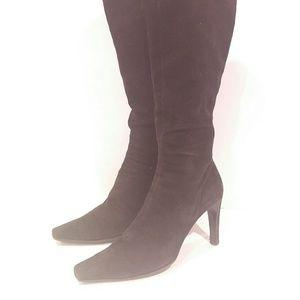 Prada 41 suede boots heel gorgeous quick sale pric